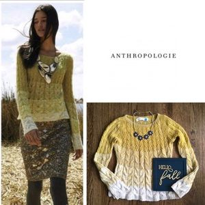 Anthropologie Sparrow fading stitch sweater